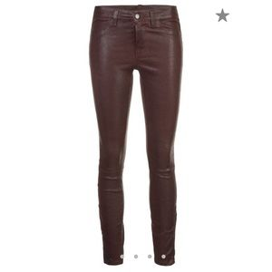 Never worn leather J Brand leather pants.